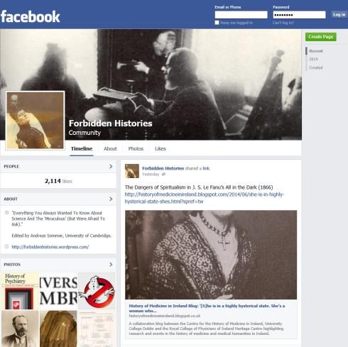 'Forbidden Histories' on Facebook
