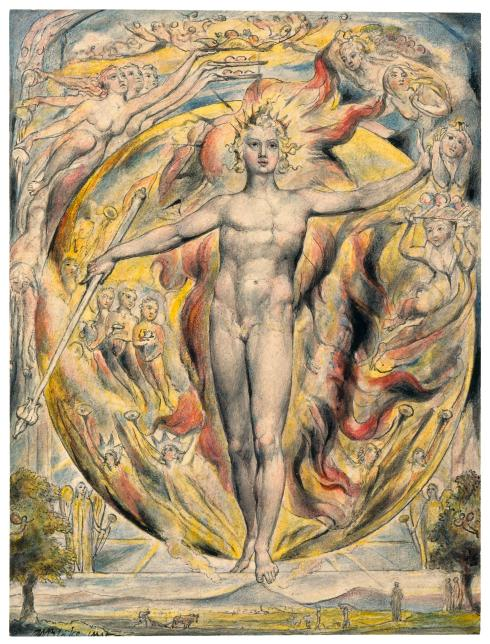 William Blake, The Sun At Its Eastern Gate, 1820