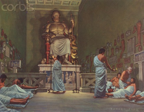 A modern depiction of ancient temple medicine © Blue Lantern Studio/Corbis